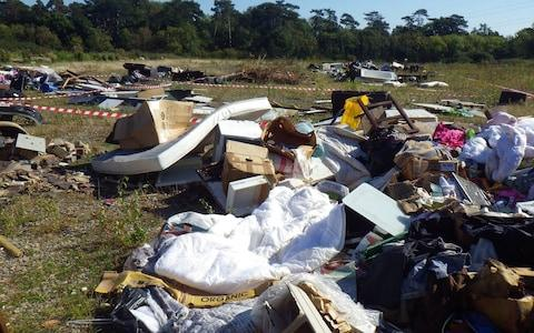 Part of the fly-tipping site - Credit: Environment Agency