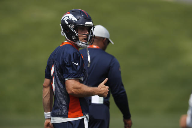 Case Keenum will help everyone on Denver's offense in 2018. (AP Photo/David Zalubowski)