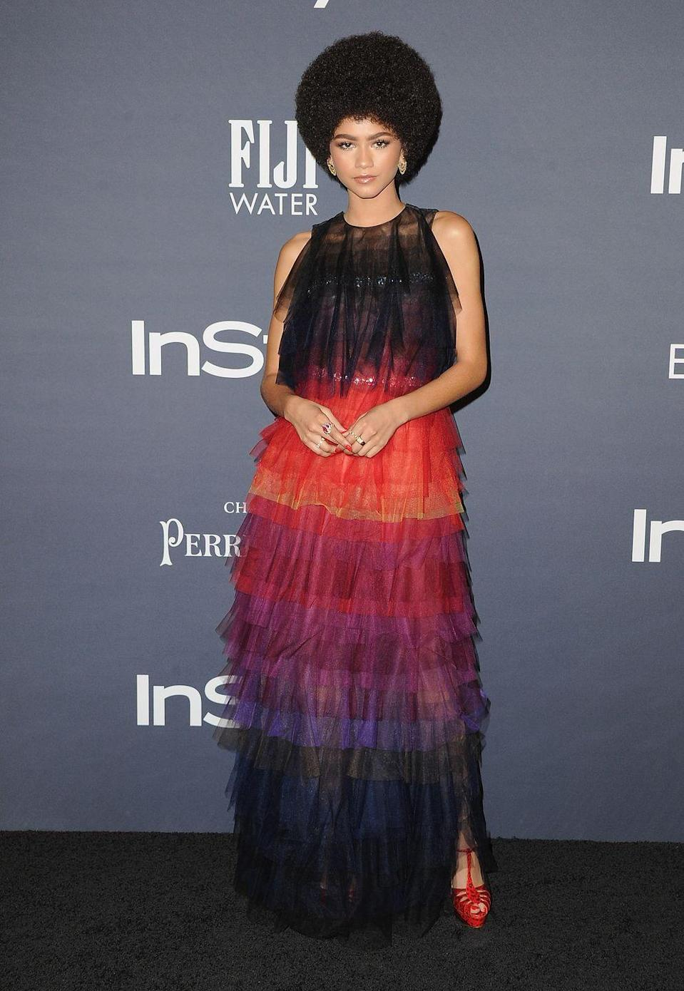 """<p>Zendaya<span class=""""redactor-invisible-space""""> wore Schiaparelli Couture to attend the InStyle Awards 2017.</span></p>"""
