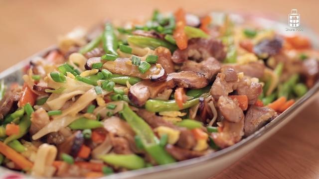 Garnished Chinese Fried Noodles