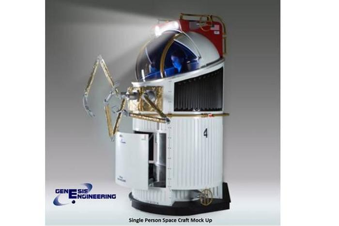Single person spacecraft (SPS) mock up.