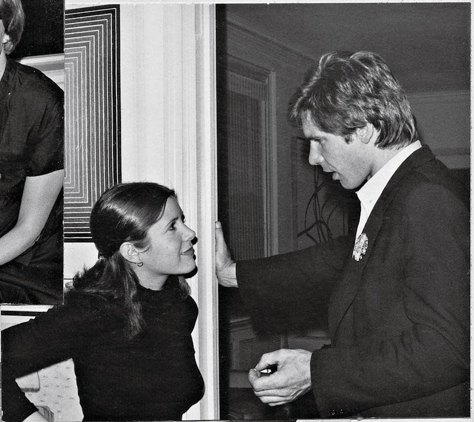 """<p>When the film opened in '77, Carrie Fisher (with Harrison Ford) thought it would be """"a turkey,"""" recalls her pal, actor-director Griffin Dunne.</p>"""