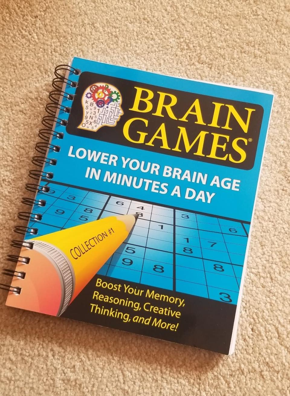 Brain Games #1: Lower Your Brain Age in Minutes a Day. Image via Sarah Rohoman.