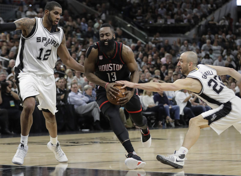 Rockets 22 3 Pointers Dismantle Spurs 126 99 In Game 1