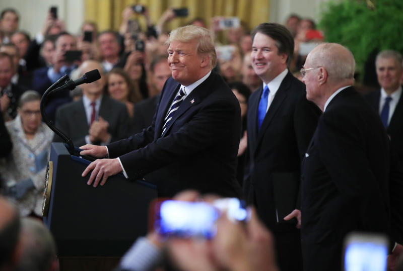 The Federalist Society presented President Donald Trump with a number of judges in lower courts that he could consider for the Supreme Court's opening. Progressives have not paid the same attention to driving judges for such roles. (ASSOCIATED PRESS)