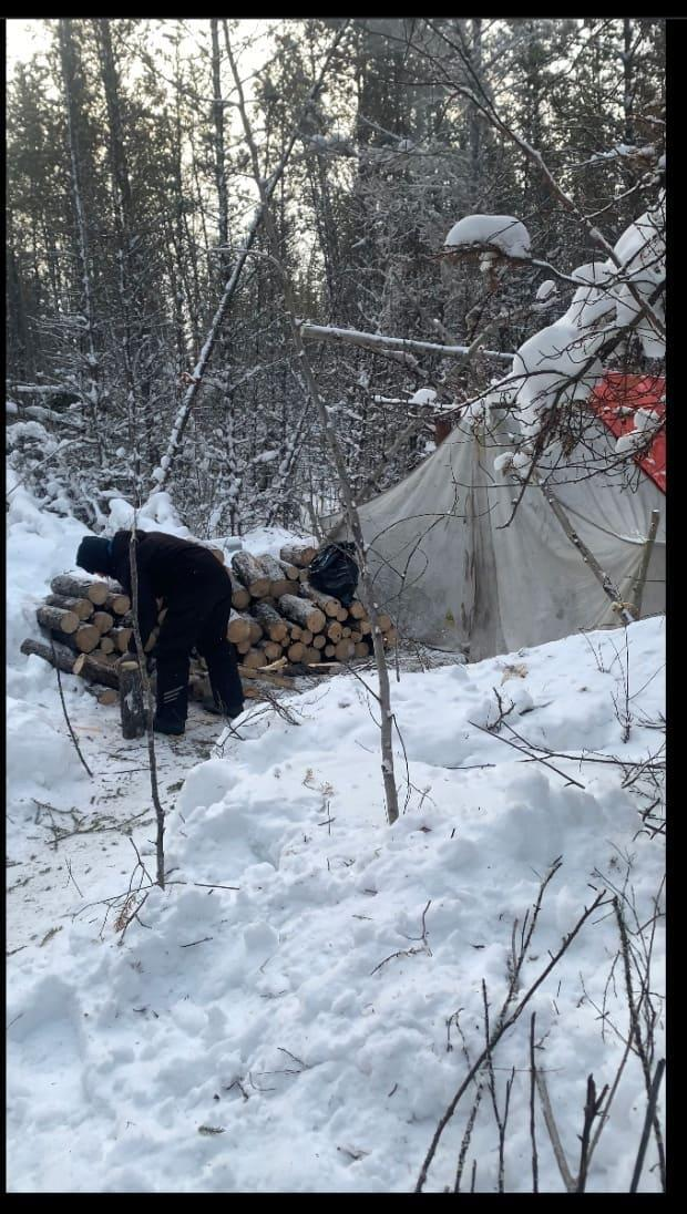 Trapper and elder Ron Desjardin, pictured, was one of the Birch Narrow Dene Nation members who set up a blockade earlier this month to prevent a uranium exploration company from entering their traditional territory without consent.