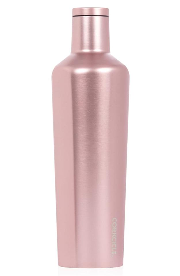 """<p>Think pink with this <a href=""""https://www.popsugar.com/buy/Corkcicle-Rose-Insulated-Stainless-Steel-Canteen-492165?p_name=Corkcicle%20Rose%20Insulated%20Stainless%20Steel%20Canteen&retailer=shop.nordstrom.com&pid=492165&price=33&evar1=fit%3Aus&evar9=46637452&evar98=https%3A%2F%2Fwww.popsugar.com%2Ffitness%2Fphoto-gallery%2F46637452%2Fimage%2F46637453%2FCorkcicle-Rose-Insulated-Stainless-Steel-Canteen&list1=shopping%2Cwater%20bottles%2Ceco-friendly&prop13=mobile&pdata=1"""" rel=""""nofollow"""" data-shoppable-link=""""1"""" target=""""_blank"""" class=""""ga-track"""" data-ga-category=""""Related"""" data-ga-label=""""https://shop.nordstrom.com/s/corkcicle-rose-insulated-stainless-steel-canteen/5063544?origin=keywordsearch-personalizedsort&amp;breadcrumb=Home%2FAll%20Results&amp;color=rose%20metallic"""" data-ga-action=""""In-Line Links"""">Corkcicle Rose Insulated Stainless Steel Canteen</a> ($33).</p>"""