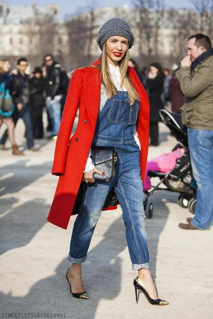 Um, what's that about overalls not being chic? Photo: Street Style Second
