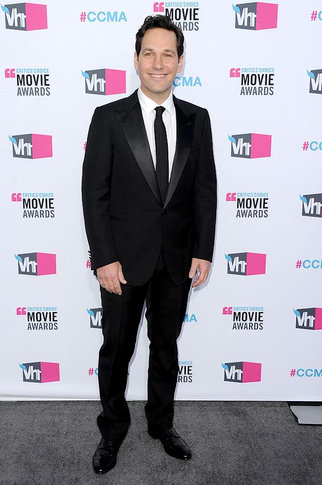 """<a href=""""http://movies.yahoo.com/movie/contributor/1800018571"""">Paul Rudd</a> at the 17th Annual Critics' Choice Awards in Hollywood on January 12, 2012."""