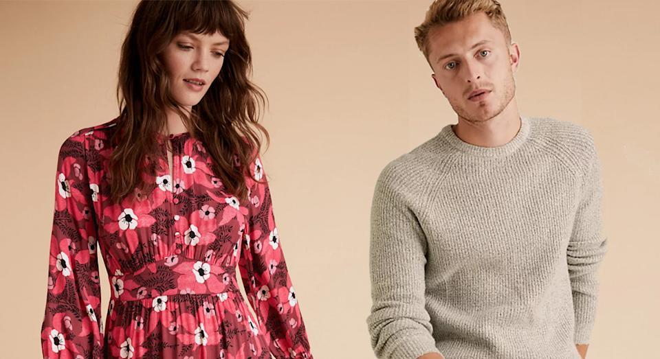 Marks and Spencer has launched a huge sale on menswear and womenswear with up to 70% off select items.  (Marks and Spencer)