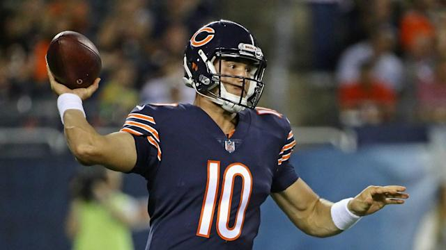Mitchell Trubisky had a reasonable rookie year, but it's still hard to say what he is and what he isn't (AP)