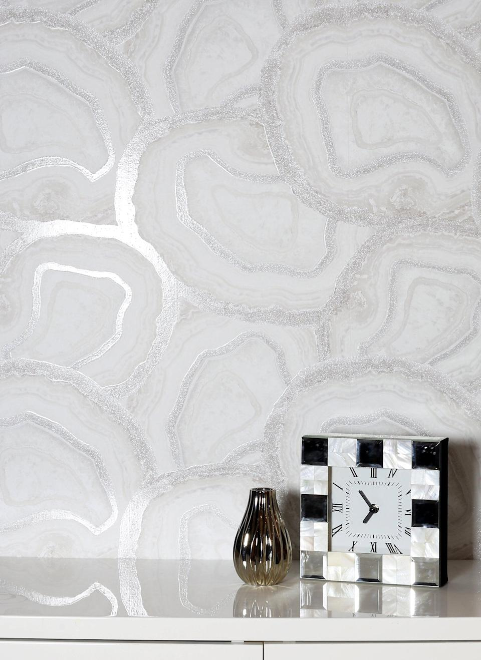 <p>This <span>Everly Quinn Tracie Agate Soft Wallpaper Roll</span> ($55) will elevate your kitchen.</p>