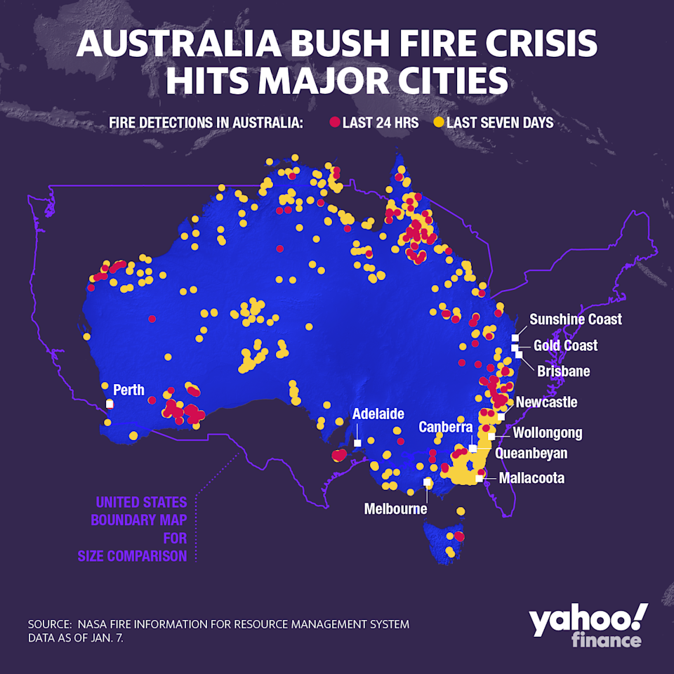 Here's where the Australian bush fires are burning. So far, the blazes have killed 26 people and a billion wildlife, and have destroyed more than 2,000 homes.