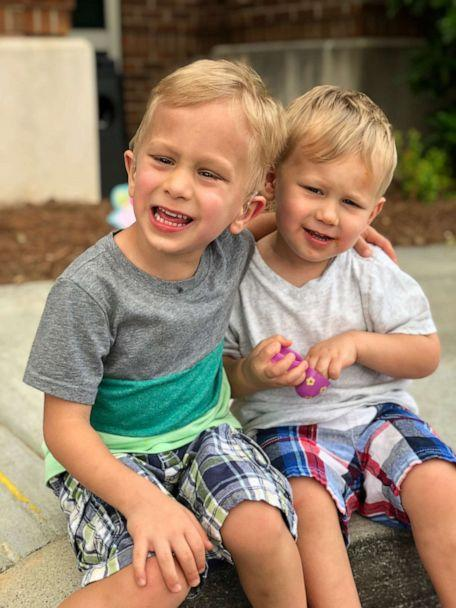 PHOTO: Tristen, 5, Caison, 3 and their little brother Carter Rush, 7 months, are being treated for retinoblastoma. (Angie Rush)
