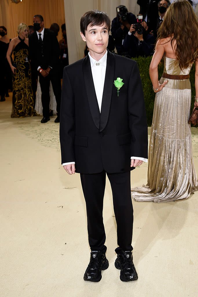 Elliott Page in Balenciaga couture. - Credit: AP Images