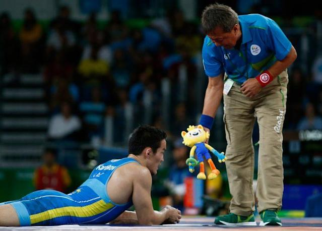 Olympic mascot, Vinicius, has made multiple appearances in the wrestling ring (Getty)