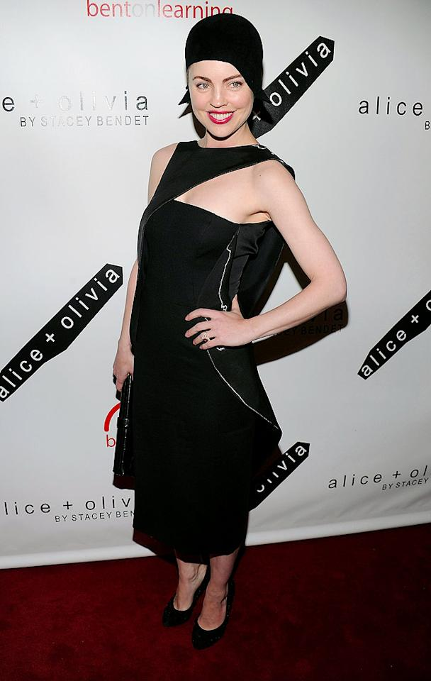 "You have to give Melissa George (""In Treatment"") credit for donning this avant-garde dress, courtesy of Bibhu Mohapatra, to a stylish benefit in NYC. Unfortunately, the Aussie import's striking ensemble was overshadowed by her unsightly, flapped-inspired headgear. Dimitrios Kambouris/<a href=""http://www.wireimage.com"" target=""new"">WireImage.com</a> - April 28, 2010"