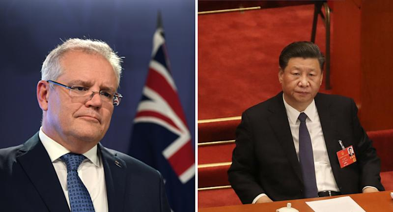 Scott Morrison and Xi Jinping. Source: Getty
