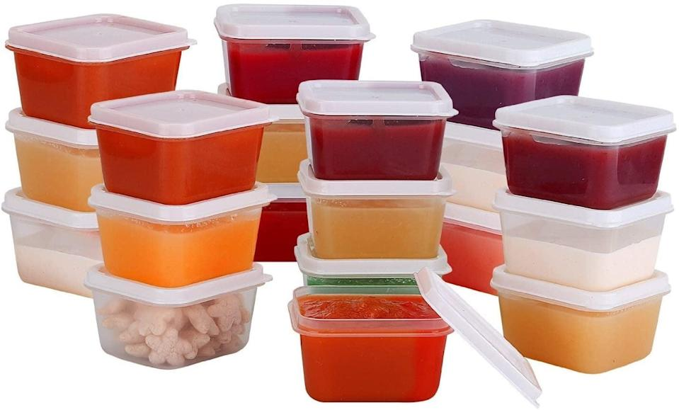 """<p>These little storage containers are perfect for individual servings of salad dressings, nuts, and condiments. Plus, they're BPA-free and fridge-, freezer-, and dishwasher-safe. </p> <p><a href=""""https://www.popsugar.com/buy/Mini-Food-Storage-Containers-579723?p_name=Mini%20Food%20Storage%20Containers&retailer=amazon.com&pid=579723&price=9&evar1=fit%3Auk&evar9=44742696&evar98=https%3A%2F%2Fwww.popsugar.com%2Ffitness%2Fphoto-gallery%2F44742696%2Fimage%2F44743255%2FSmall-Containers-Snacks-Salad-Dressings-Condiments&list1=healthy%20living%2Chealthy%20cooking%20tips%2Cmeal%20prep&prop13=api&pdata=1"""" class=""""link rapid-noclick-resp"""" rel=""""nofollow noopener"""" target=""""_blank"""" data-ylk=""""slk:Mini Food Storage Containers"""">Mini Food Storage Containers</a> ($9 for a set of 20)</p>"""