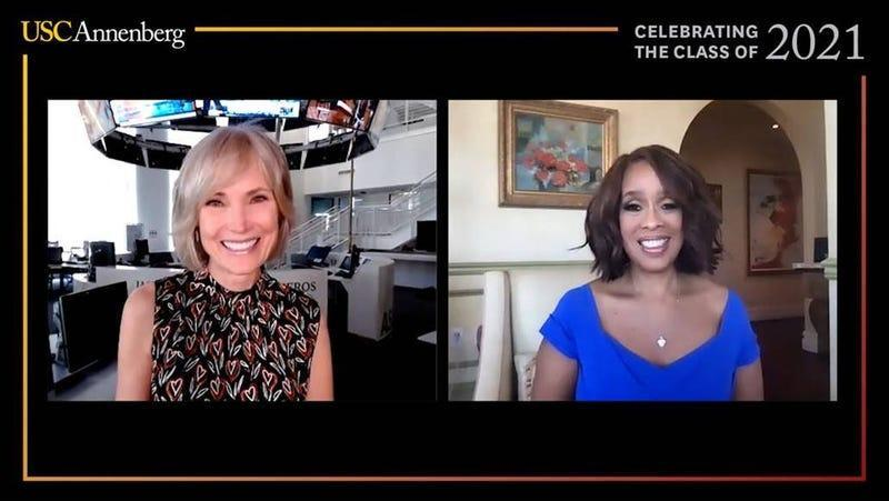 USC Annenberg Dean Willow Bay, left, and Gayle King