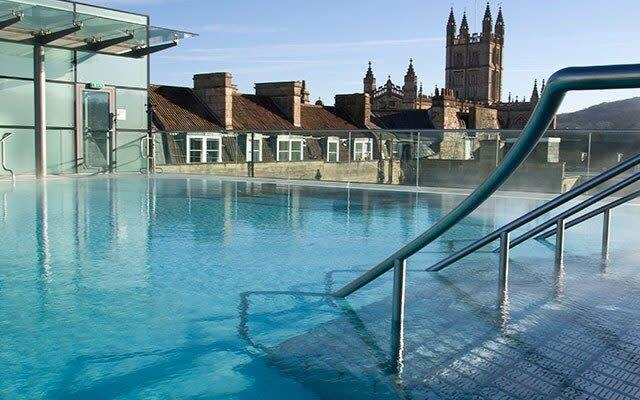 The rooftop pool at Thermae Bath Spa - Getty