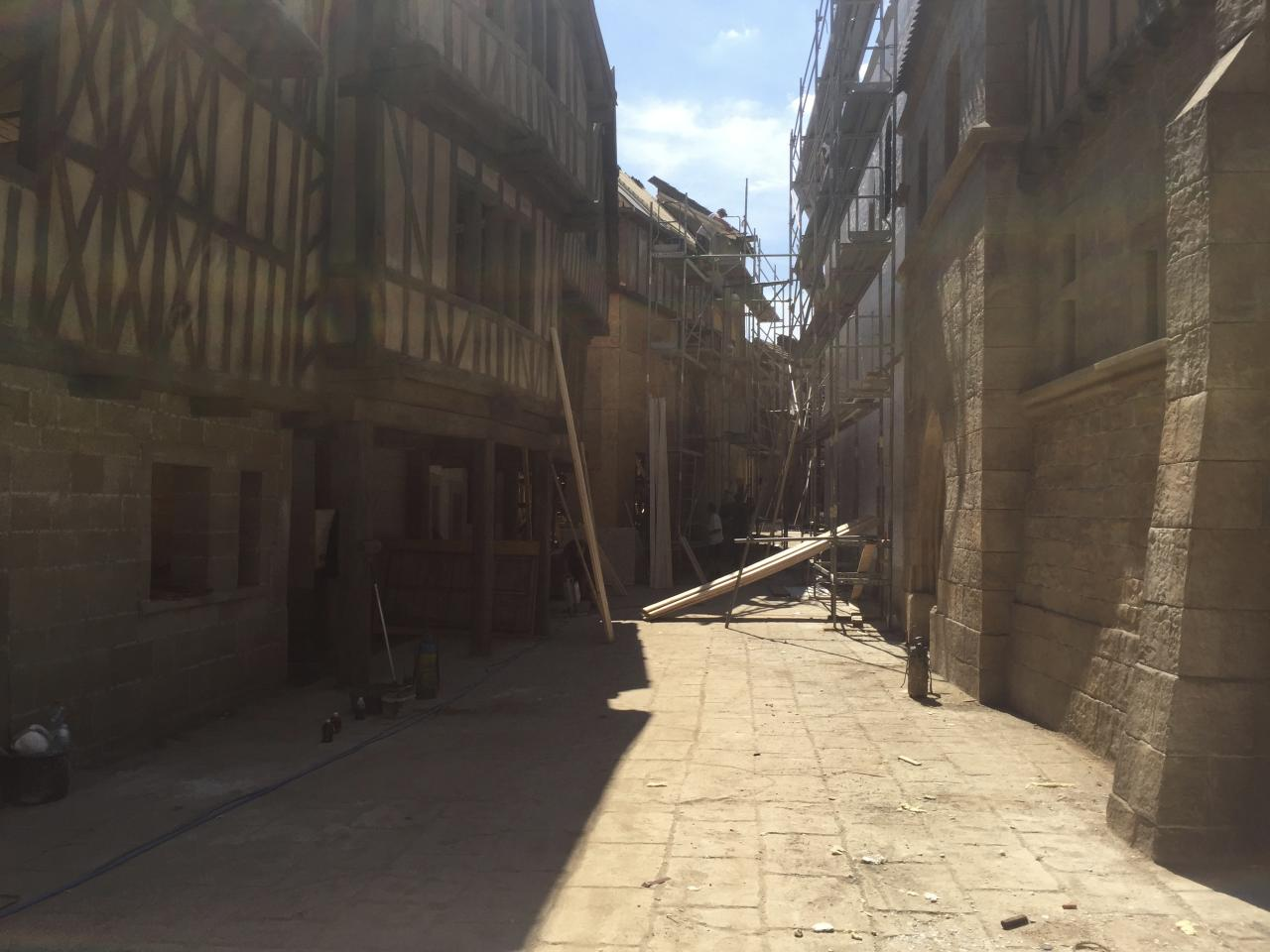 <p>Our amazing @knightfallshow sets being built. It took 400 people, 7 days a week for 4 months to build these. They built multiple streets, a Palace, Temple, market square, Church, city walls (complete with moat), shops and taverns. The stone was so real you could only make out that it wasn't by touching it. When all the extras were on set it was like being in a time machine. — @tom_cullen #Knightfall #HISTORY<br />(Photo: Instagram) </p>