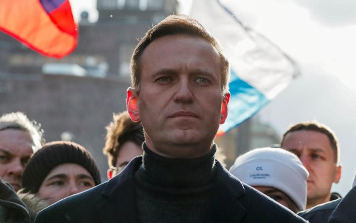 """Alexei Navalny, the main opposition leader, said in response: """"There are millions of us."""" - SHAMIL ZHUMATOV/REUTERS"""