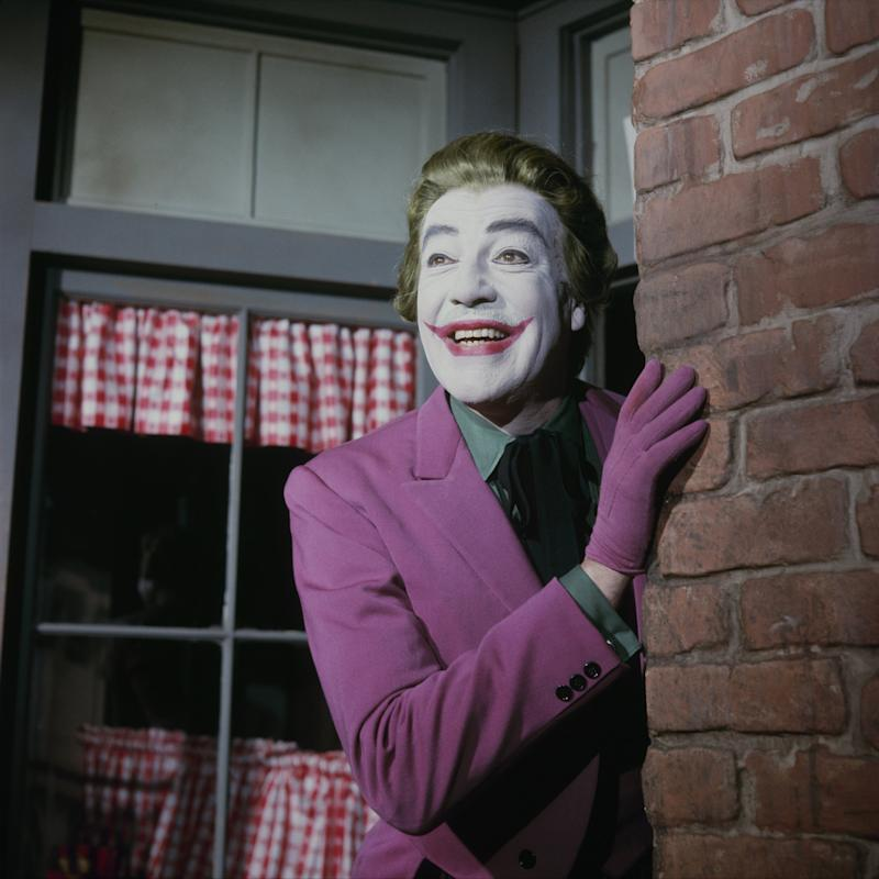 "BATMAN - ""The Joker Goes to School"" - Airdate March 2, 1966. (Photo by Walt Disney Television via Getty Images Photo Archives/Walt Disney Television via Getty Images) CESAR ROMERO"