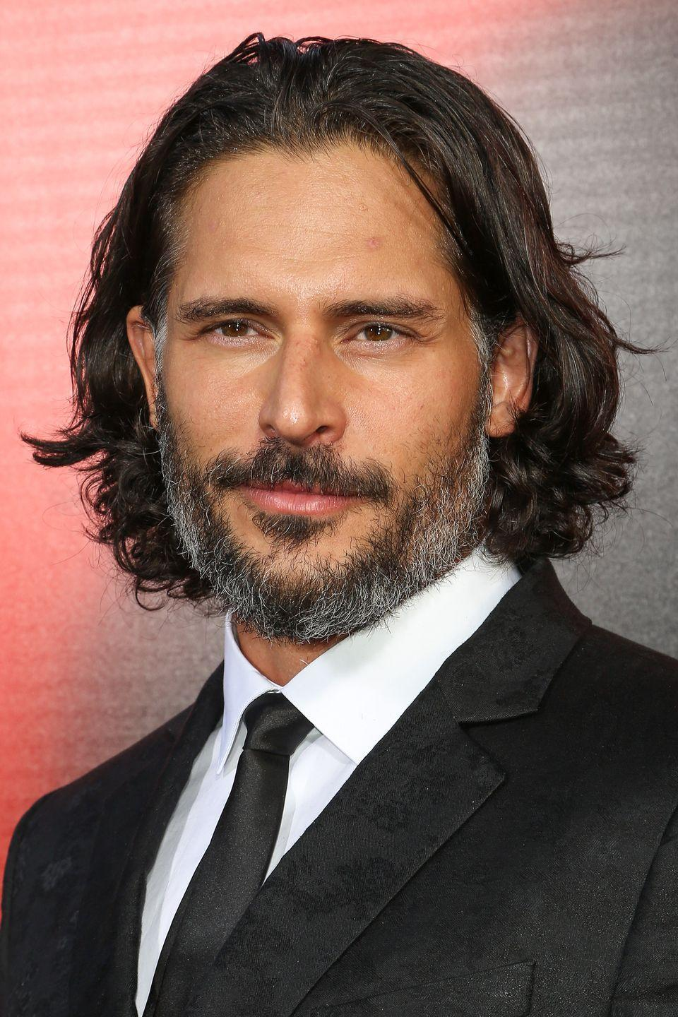 <p>Joe Manganiello is no stranger to shaggy hair—the <em><em>True Blood </em></em>star has had flow since his early career. But in 2013, Manganiello went longer with a chin length cut and full beard. </p>