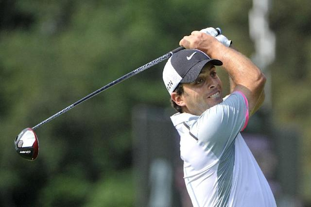 Francesco Moinari of Ittaly, watches his drive on the third hole, during the first round of the Bridgestone Invitational golf tournament, Thursday, July 31, 2014, in Akron, Ohio. (AP Photo/Phil Long)