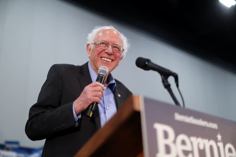 Democratic 2020 U.S. presidential candidate Sanders rallies with supporters in Myrtle Beach, South Carolina
