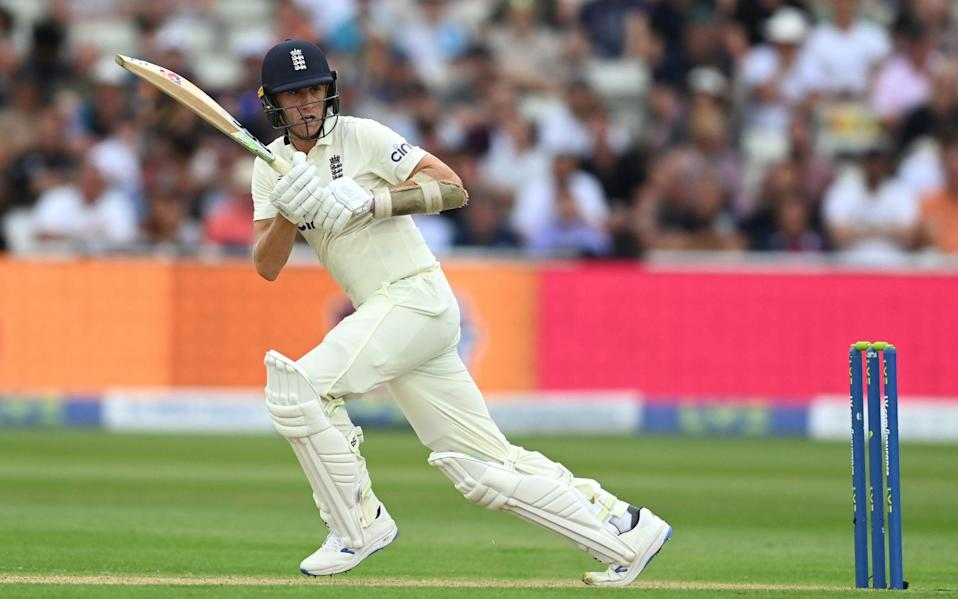 England batsman Dan Lawrence picks up some runs during day one of the second Test Match between England and New Zealand - GETTY IMAGES