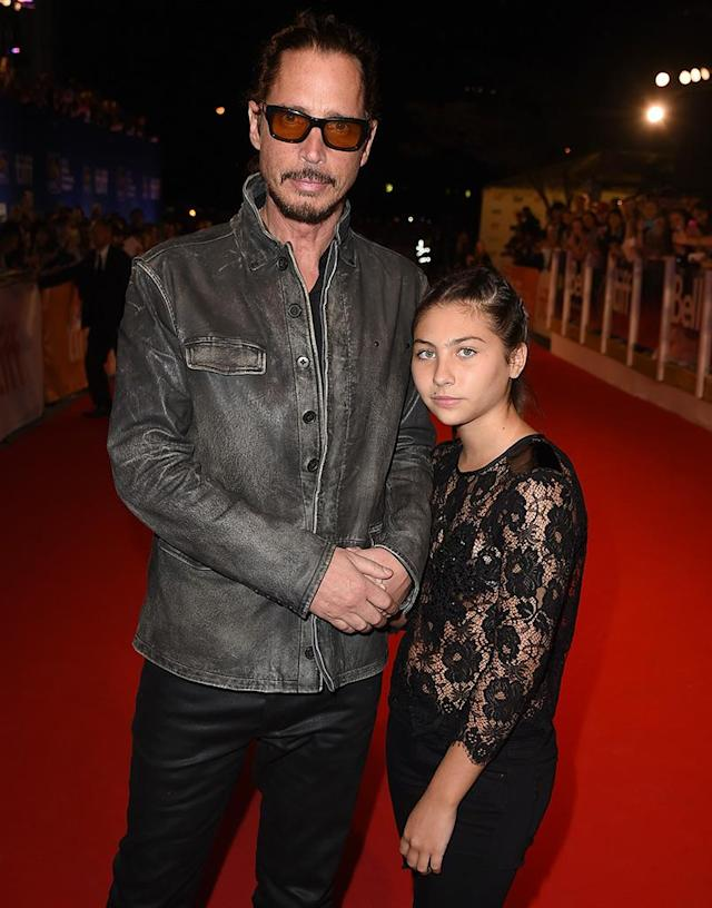 Chris Cornell with his daughter Toni at the premiere of  <em>The Promise</em> during the 2016 Toronto International Film Festival. (Photo: Kevin Winter/Getty Images)