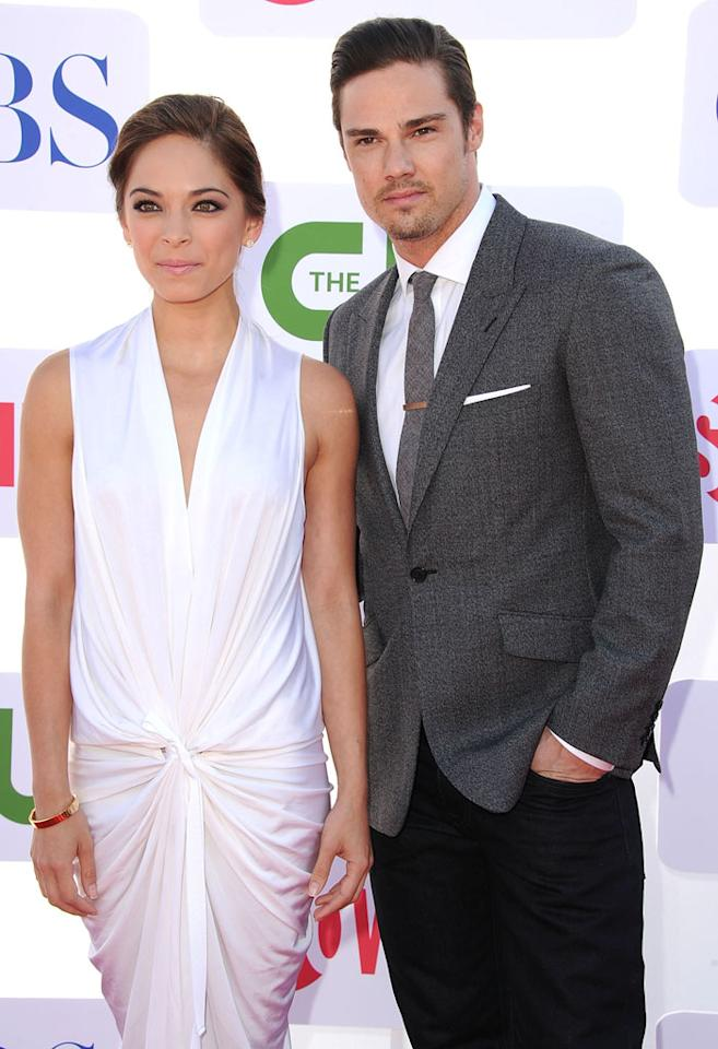 "Kristin Kreuk and Jay Ryan (""Beauty and the Beast"") arrive at the CBS, Showtime, and The CW Summer 2012 Press Tour Party on July 29, 2012 in Beverly Hills, California."