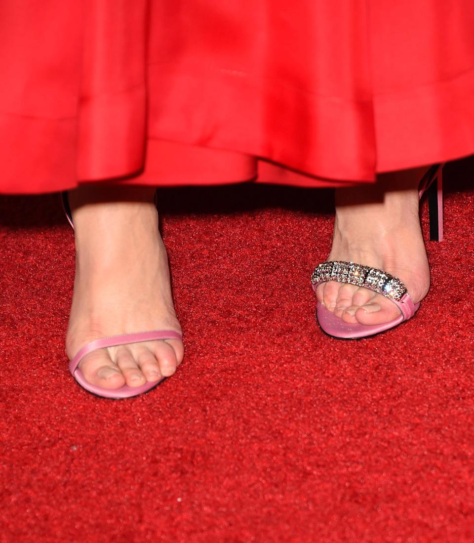 Nicole Kidman wore purposely mismatched heels. (Photo: Getty Images)