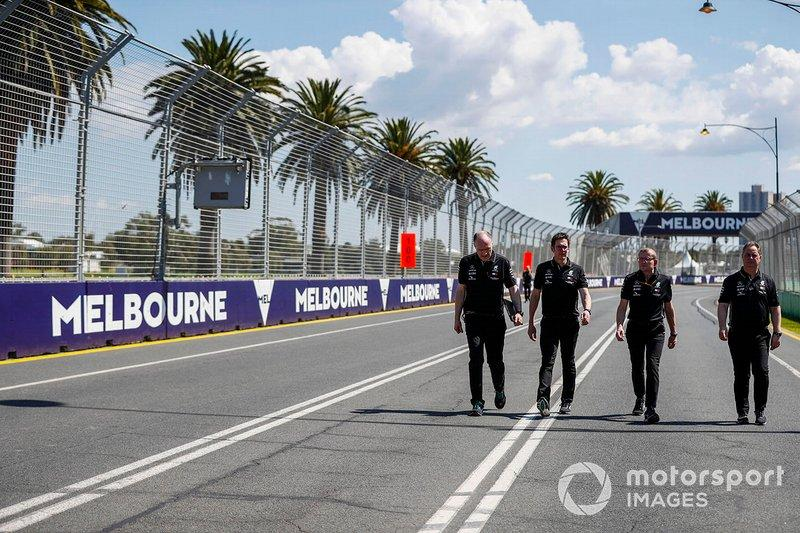 "Mercedes team personnel walk the track<span class=""copyright"">Glenn Dunbar / Motorsport Images</span>"