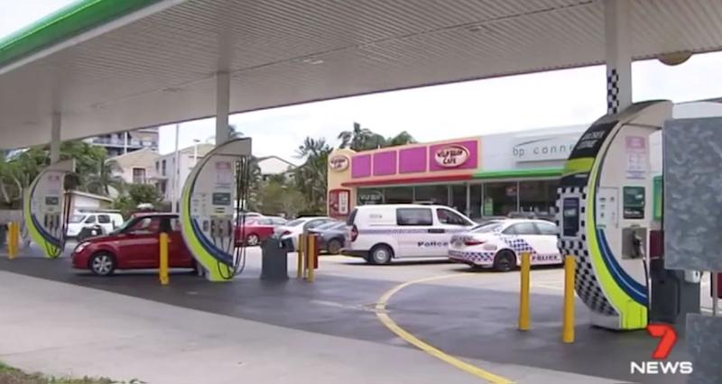 The man walked into this BP petrol station in Labrador. Source: 7 News