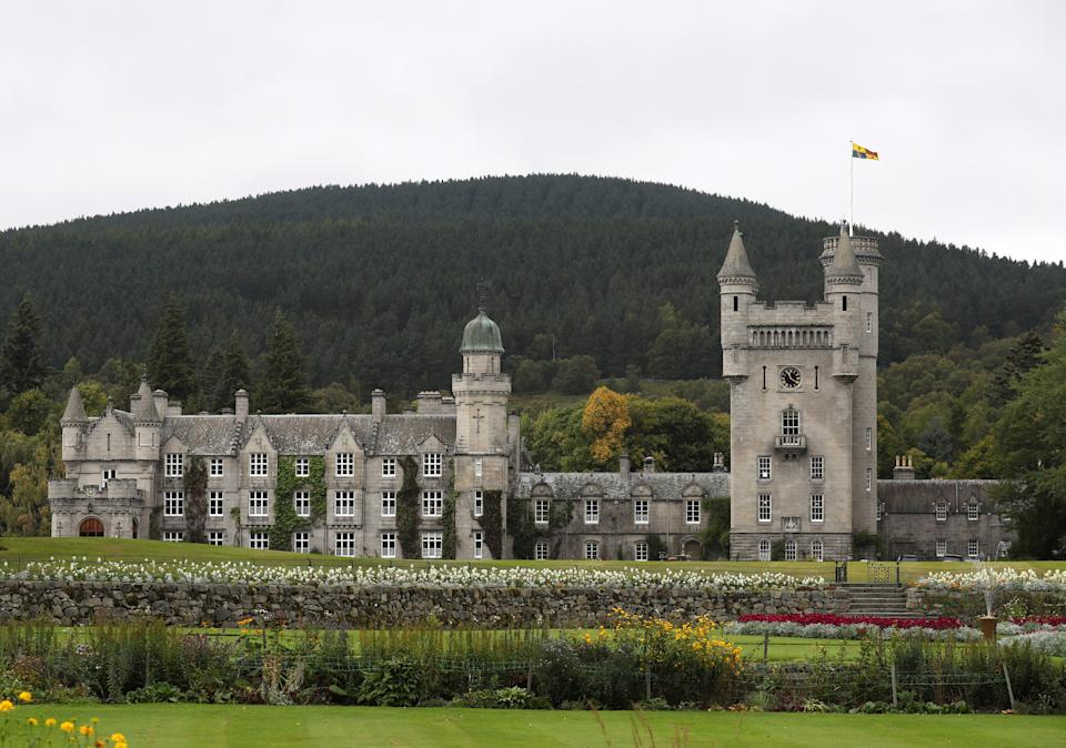 ABERDEEN, SCOTLAND - SEPTEMBER 20:  A general view of Balmoral Castle as Queen Elizabeth holds a private audience on September 20, 2017 in Aberdeen Scotland. (Photo by Andrew Milligan - WPA Pool/Getty Images)