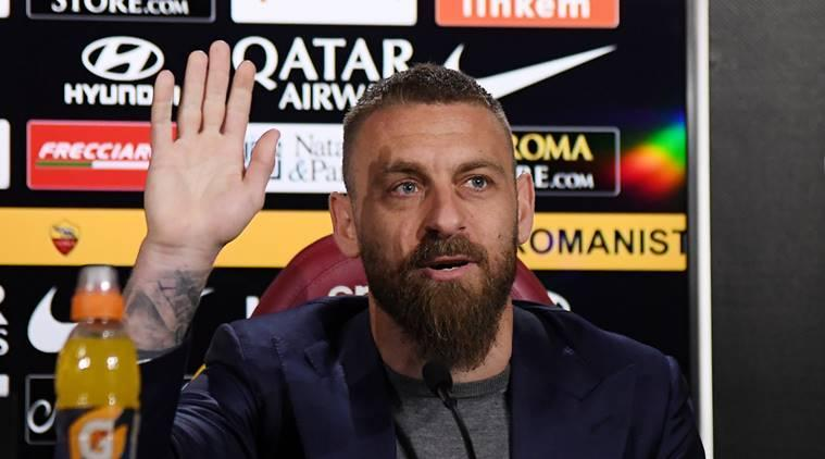 AS Roma's Daniele De Rossi during a press conference