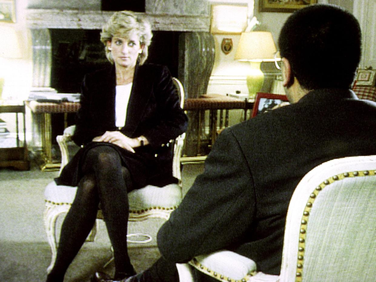 File photo dated 20/11/95 of Diana, Princess of Wales, during her interview with Martin Bashir for the BBC, which is on a new chart of the most-watched programmes in the 80-year history of British television.