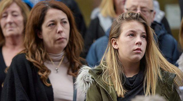 Mia and her mum (right) gave statements. Source SWNS