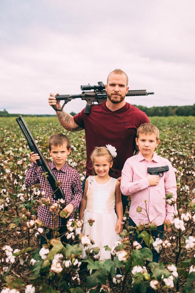 Graham Allen and sons carry weapons in social image