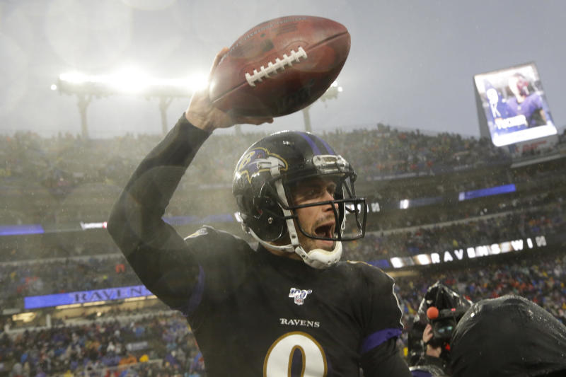 Justin Tucker is arguably one of the greatest kickers in NFL history. But he wasn't even drafted. (AP Photo/Julio Cortez)