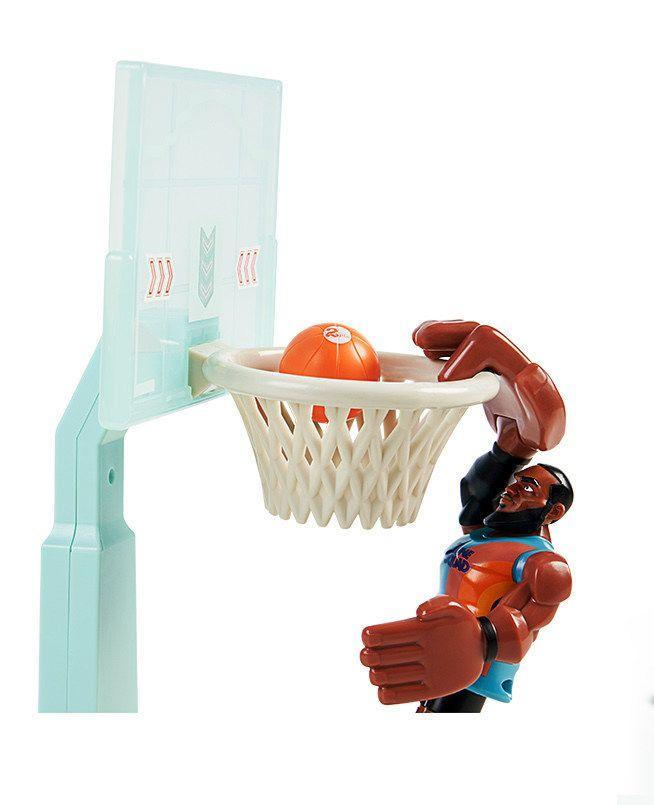 <p>The object is simple: Launch LaBron from his starting pad and see if you can get him to fly across the air and dunk the ball. His hands are large enough to palm the ball — or hang off the rim for his signature dunk. And if your kids are big LeBron (or Looney Tunes) fans, there's a ton of figures for <em>Space Jam: A New Legacy</em> headed your way, too.<em><br></em></p><p><em>5+<br></em><em>$20<br>Available Spring 2021</em></p>