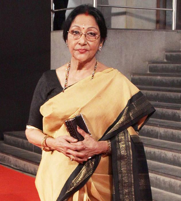 Mala Sinha arrives