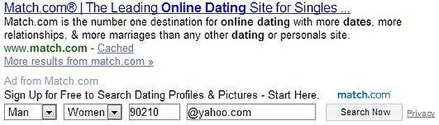 match free search yahoo