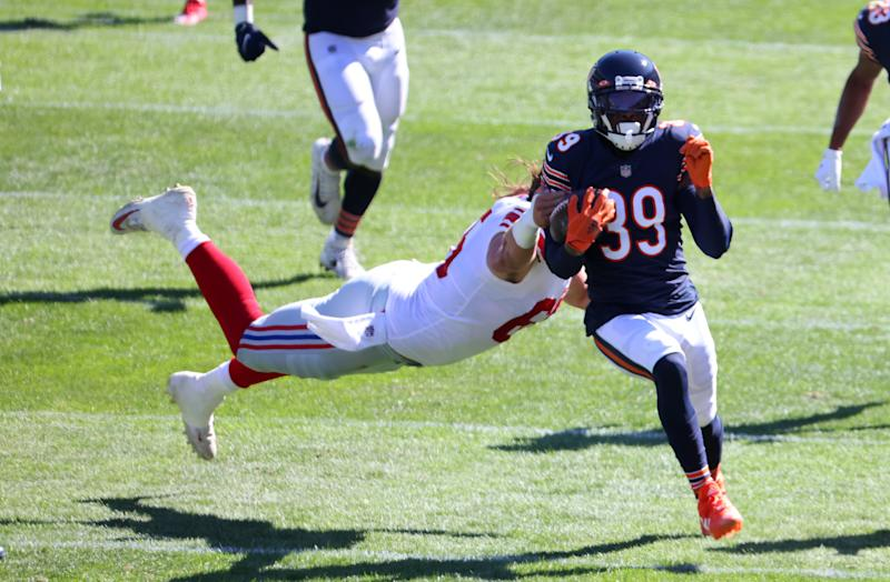 Bears safety Eddie Jackson thinks he was robbed of a pick-six vs. Giants