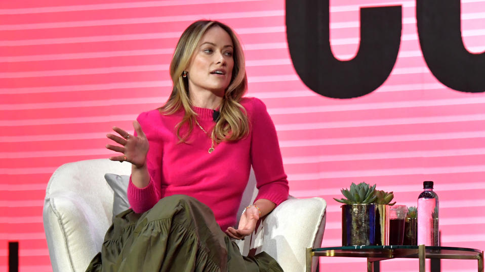 Olivia Wilde speaks onstage during The MAKERS Conference on February 11, 2020. (Photo by Emma McIntyre/Getty Images for MAKERS)