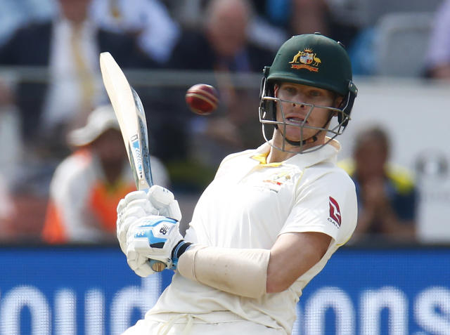 Steve Smith leaves an Archer ball perfectly (Photo by Action Foto Sport/NurPhoto via Getty Images)