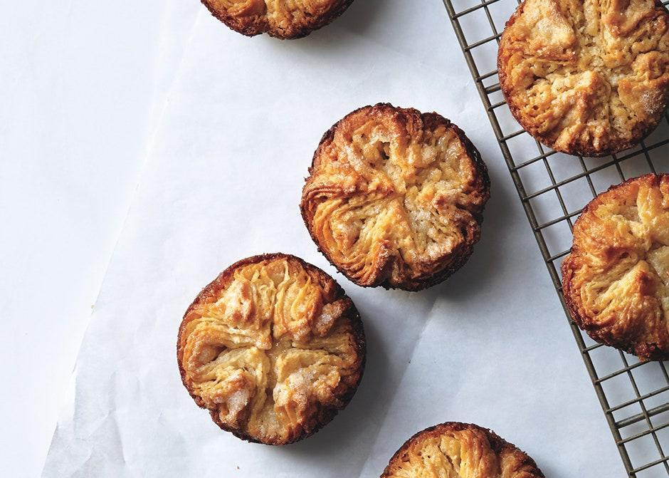"""Though the dough can be temperamental, layer after delicate layer will convince you: Making this pastry is worth the effort. <a href=""""https://www.bonappetit.com/recipe/kouign-amann?mbid=synd_yahoo_rss"""" rel=""""nofollow noopener"""" target=""""_blank"""" data-ylk=""""slk:See recipe."""" class=""""link rapid-noclick-resp"""">See recipe.</a>"""